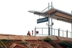The newly constructed Mtito Andei station