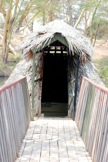 The entrance to the observation tank
