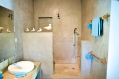 Cemented bathroom