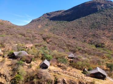 Sabache Eco camp blending into its surroundings