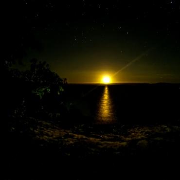Beautiful moon rise
