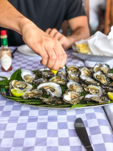 Oysters on oysters at Nautilis Kilifi
