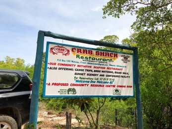 We drove up to Watamu for the day to munch here